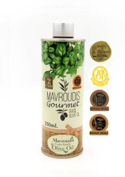 Gourmet Basil extra virgin olive oil 250ml