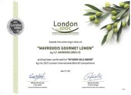 Gourmet Lemon extra virgin olive oil 100ml