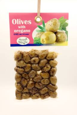 Olives with oregano