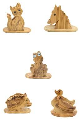 Olive Wood Napkins Holders
